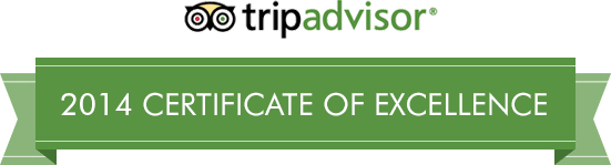 TripAdvisor 2013 Certificate of Excellent